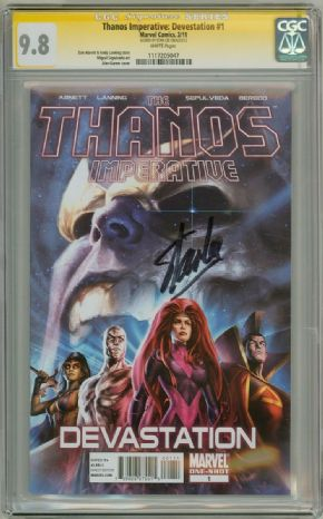 Thanos Imperative Devastation #1 CGC 9.8 Signature Series Signed Stan Lee Avengers Movie Marvel